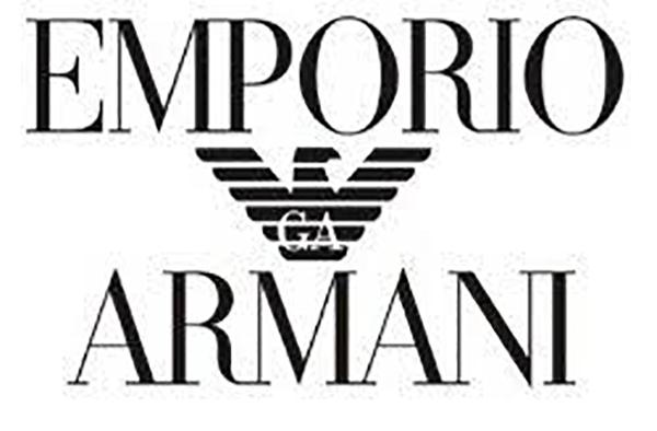 armani glasses logo